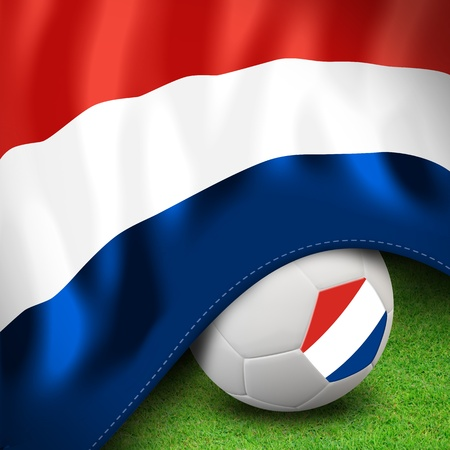 Soccer ball and flag euro netherlands photo