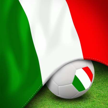 Soccer ball and flag euro italy for euro 2012 group c photo