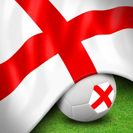 Soccer ball and flag euro england photo