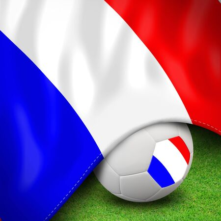 Soccer ball and flag euro france for euro 2012 group d Stock Photo - 12822451