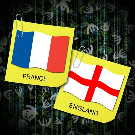euro 2012 group d soccer ball and flag france and england