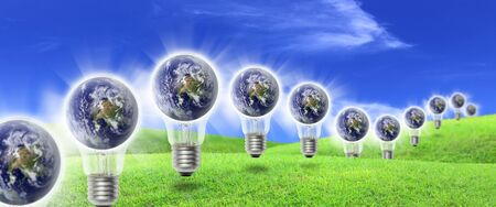 Elements of this image furnished by NASA A Bulb energy farm is a group of energy production in the same location used to produce electric power photo