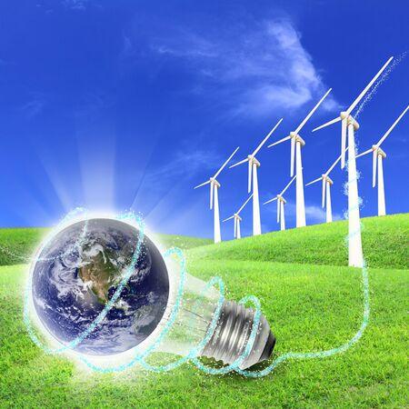 Elementi di questa immagine fornita dalla NASA Un parco eolico è un gruppo di turbine eoliche nella stessa posizione utilizzata per produrre energia elettrica