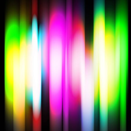 Rainbow abtract background on black background photo