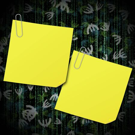 europian: Yellow sticky note with clip on background euro sign