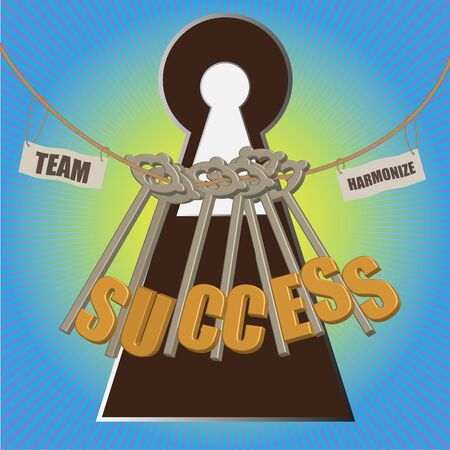 Team with multiple key to suclcess Stock Photo - 14258475