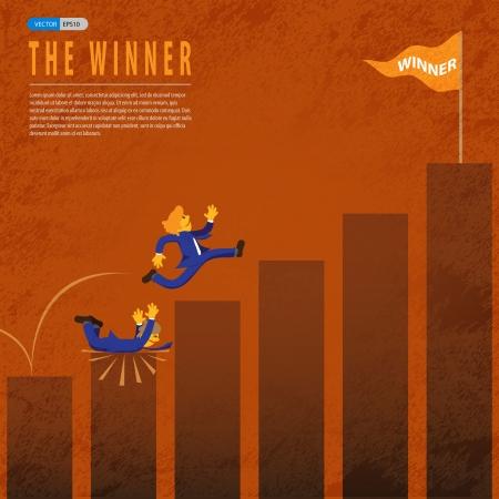 hombre cayendo: �xito de las empresas a trav�s de la otra empresa