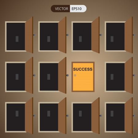 right way: the way go to successful in business has many way Illustration