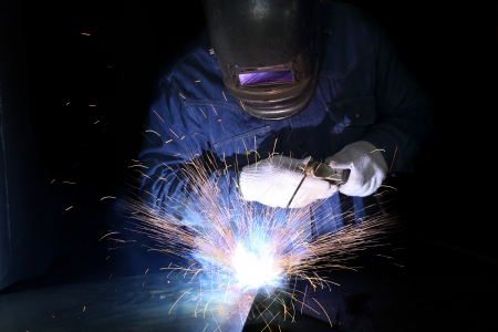 Metal welding with sparking photo