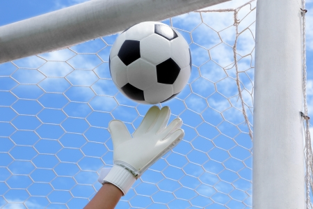 Goalkeeper  termed goaltender, netminder, goalie, or keeper in some sports  is a designated player charged with directly preventing the opposing team from scoring by intercepting shots at goal  Stock Photo