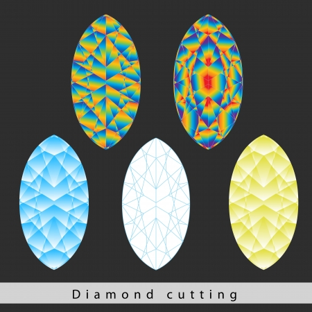 shaping: A diamond cut is a style or design guide used when shaping a diamond for polishing such as the brilliant cut