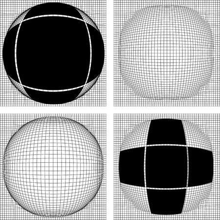 deceptive: Een optische illusie wordt gekenmerkt door visueel waargenomen beelden die bedrieglijk of misleidend zijn Stock Illustratie