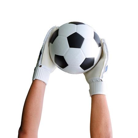 portero: Ruta cliping incluir. Portero (denominado portero, guardameta, portero) es un jugador designado encargadas de prevenir directamente el equipo de oposición anote interceptando tiros a gol. Foto de archivo