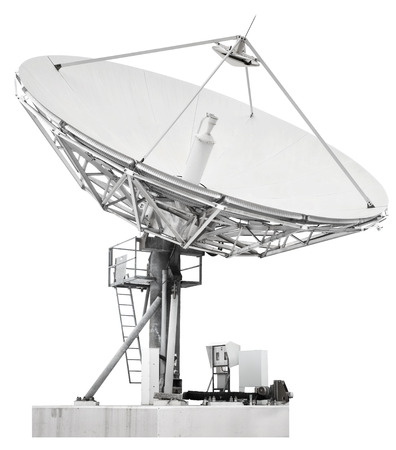 A satellite dish is a dish-shaped type of parabolic antenna designed to receive microwaves from communications satellites, which transmit data transmissions or broadcasts, such as satellite television Фото со стока