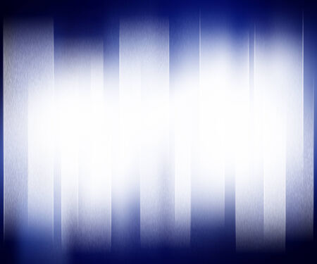 Blue abstract background with white strip light for presentation