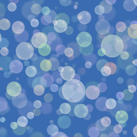 Abstract colorful bubble on blue background