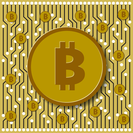Bitcoin virtual money, the money of the future world of financial innovation. Bitcoin as a payment system for maximum security using blockschain technology.