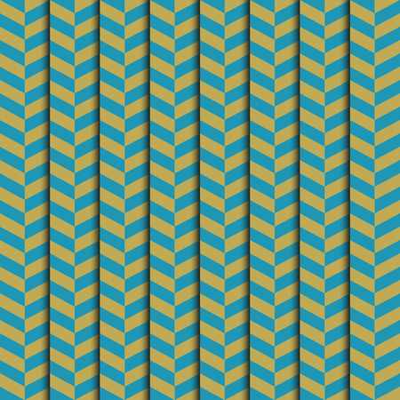abstract background blue and yellow strip pattern seamless with drop shadow