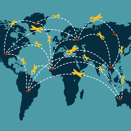 International shipping so if you want to speed to deliver the goods by aircraft cargo. Because it can take a short period of time in transit from one hemisphere to the other side of the world.