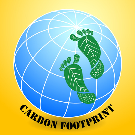 A carbon footprint is historically defined as the total emissions caused by an individual, event, organisation, or product, expressed as carbon dioxide equivalent Ilustrace