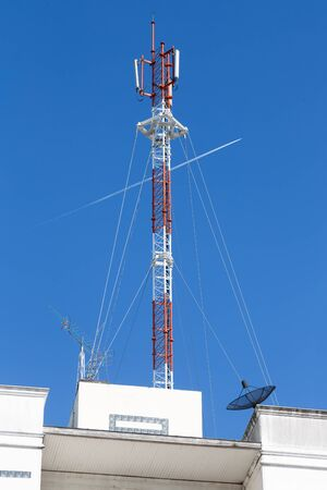 A cell site, cell tower, or cellular base station is a cellular-enabled mobile device site where antennae and electronic communications equipment are placed to create a cell in a cellular network