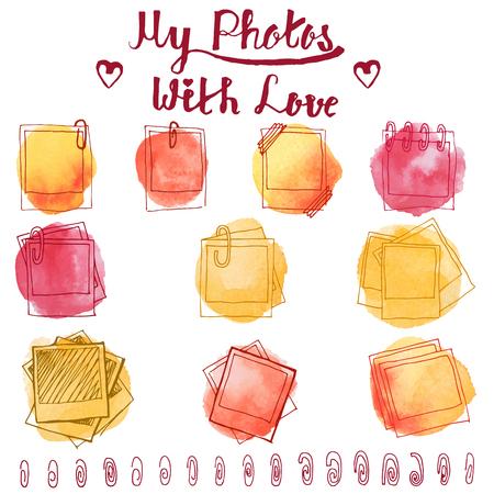 Vintage photo frame doodle.
