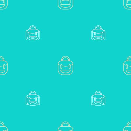Backpack vector pattern. Seamless background illustration.