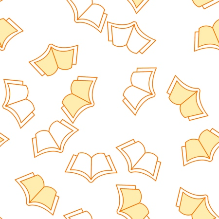 Yellow book pattern on a white background
