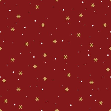 Vector seamless pattern with geometric snowflakes. Stock fotó - 133487740