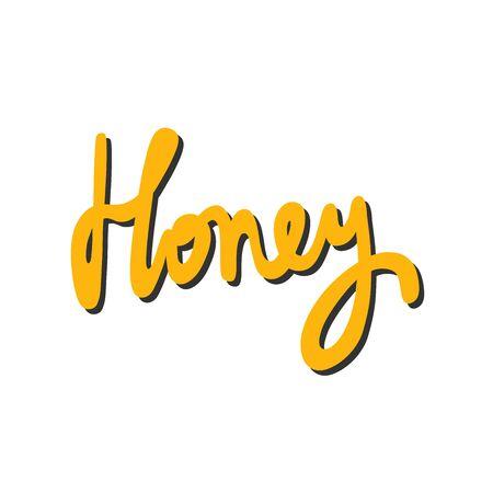 Honey. Sticker for social media content. Vector hand drawn illustration design.