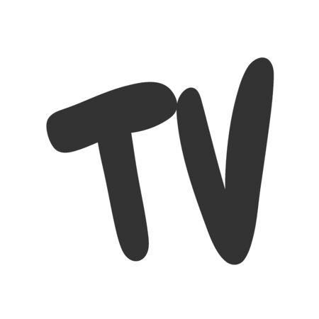 TV. Sticker for social media content. Vector hand drawn illustration design.