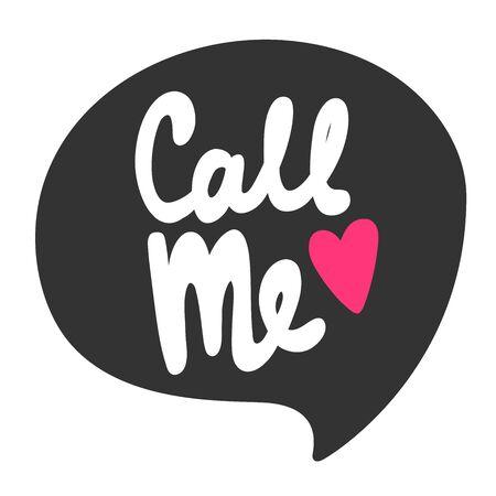 Call me. Sticker for social media content. Vector hand drawn illustration design. 일러스트