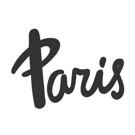 Paris. Sticker for social media content. Vector hand drawn illustration design. 일러스트