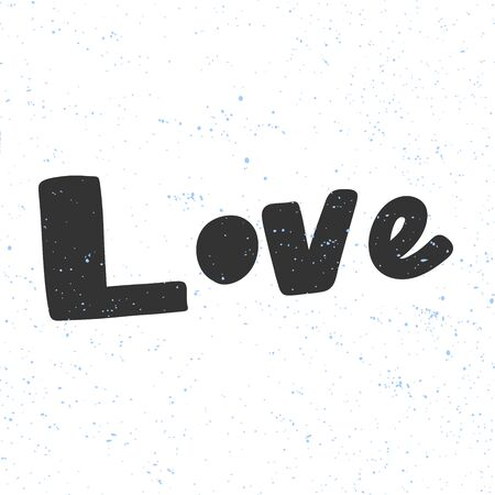 Love. Christmas and happy New Year vector hand drawn illustration banner with cartoon comic lettering. Illusztráció