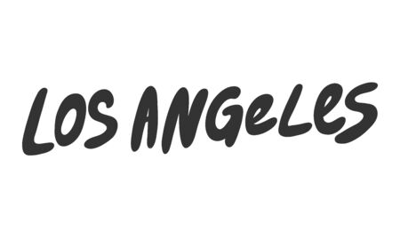 Los Angeles. Sticker for social media content. Vector hand drawn illustration design. 일러스트