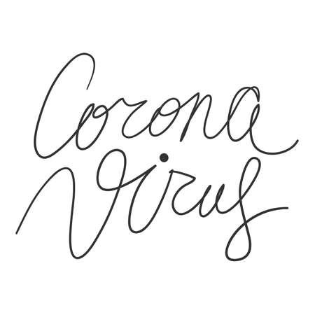 Corona Virus. Covid-19. Sticker for social media content. Vector hand drawn illustration design. Vecteurs