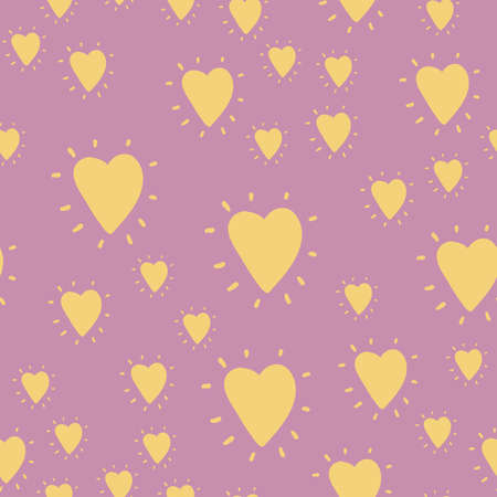 Vector heart seamless pattern for wedding, birthday or valentines day. Good for wrapping, poster, background. 向量圖像