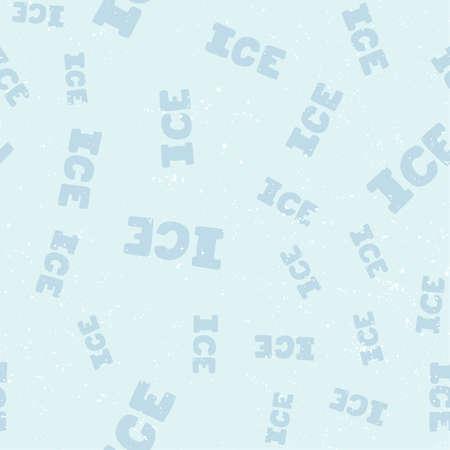 Ice. Retro pattern for print design. Cartoon vector illustration. Romantic seamless texture design. Hand drawn calligraphy lettering vector illustration.