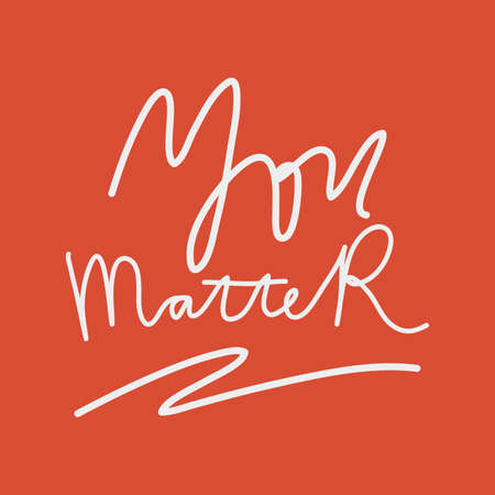 You Matter. Hand drawn support banner against racism. Red background white letters. Illustration