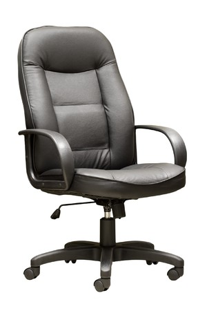 congressman: Comfortable leather managers armchair  on the isolated background