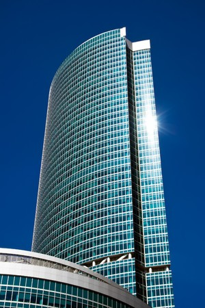 Modern skyscraper in the International Business Centre, Moscow city, Russia Stock Photo