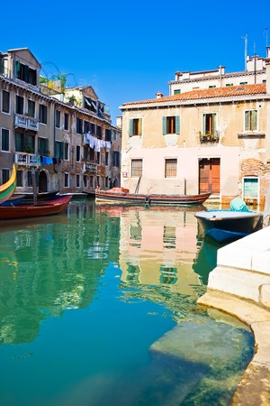 A typical venetian canal in summer, Venice photo