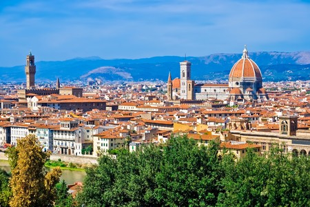 Beautiful panoramic view of Florence, Italy Stock fotó