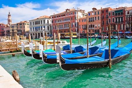 Beautiful gondolas anchored in Venice, Italy Stock Photo - 4350104