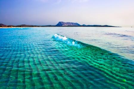 cinta: Green Tyrrhenian Sea near la Cinta beach, Sardinia, Italy Stock Photo