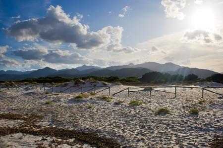 cinta: Mountains view from the beach Cinta, Sardinia, Italy