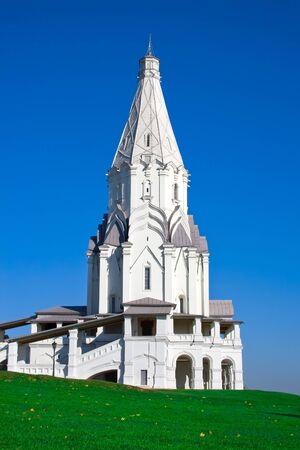 ascension: hipped-roof church of Ascension in Kolomenskoye, Moscow Stock Photo