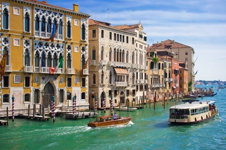 Great water street - Grand Canal in Venice, Italy Stock Photo