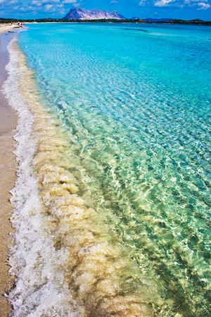 cinta: White sandy beach Cinta near San-Teodoro, Sardinia, Italy Stock Photo