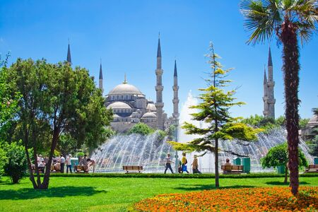 turkey istanbul: The Sultan Ahmed Mosque in Istanbul, Turkey Stock Photo
